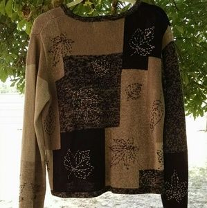 Christopher & Banks Patchwork Sweater